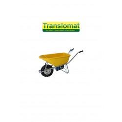 Brouette motorisée pour matériaux de chantier - bac 100L - roues